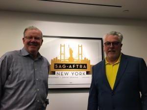 Jim and I giving a talk at SAG NYC
